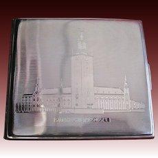 C.G. Halberg Engraved Swedish Silver Cigarette Case
