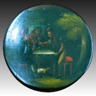 Papier Mache Hand Painted Snuff Box circa 1840