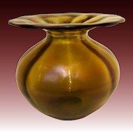 Loetz Bronze Iridescent Glatt Vase