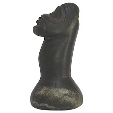 Taino Stone Effigy of a Zemi Figure, Mortar and Pestle