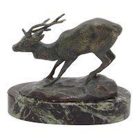 19th Century Animalier Barye Bronze Deer