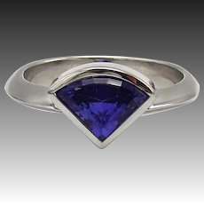14kt White Gold and Tanzanite Ring, 2.00 ctw