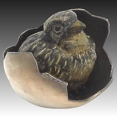 Austrian Cold Painted Bronze Hatching Chick Sculpture