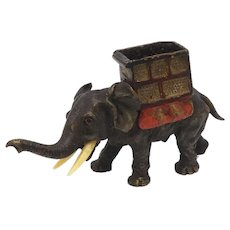 Austrian Cold Painted Bronze Elephant Sculpture