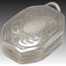 Joseph Willmore Sterling Silver Vinaigrette