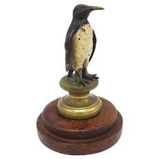 Austrian Cold Painted Bronze Penguin Sculpture