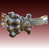 A Rare Pair of A. E. Warner Coin Silver Claw Foot Ice Tongs, circa 1840