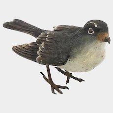 Austrian Cold Painted Sparrow Sculpture