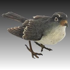 Austrian Cold Painted Sparrow Sculpture