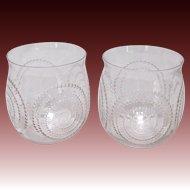 Pair of R Lalique Spirale Goblets