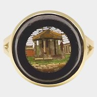 14K Micro Mosaic Parthenon Ring