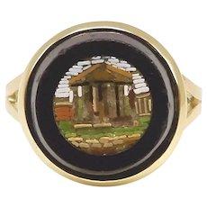14K Micro Mosaic Parthenon Ring