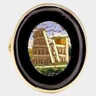 14K Micro Mosaic Colosseum Ring