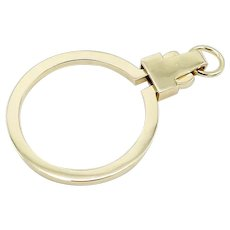 Signature 14K Gold Charm Holder Spring Ring
