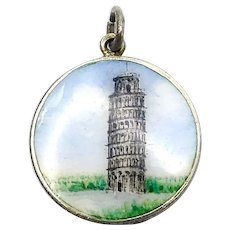Vintage Italian Silver Tower of Pisa Charm