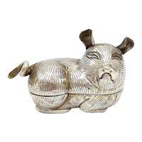 Vintage Thai Silver Pig Zodiac Box