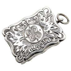 19th Century British Sterling Silver Vinaigrette Pendant