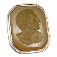 Georgian Era Intaglio Agate Gold Cased Fob