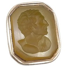 Georgian Era Intaglio Agate Gold Cased Fob