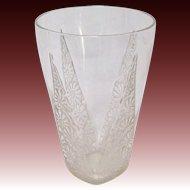 R Lalique Marguerite Glass Tumbler