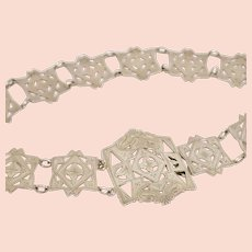 English Sterling Silver Arts and Crafts Belt, Circa 1911