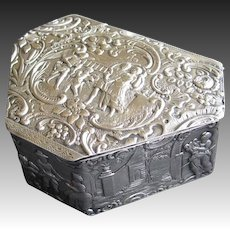 J D Schleissner & Sohne Hanau Silver Hexagonal Box