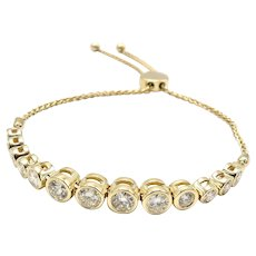 14K Yellow Gold Riviera Diamond Bracelet