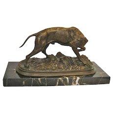 Bronze Animalier Hunting Dog Sculpture by P J Mene, circa 1910