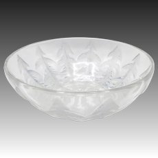 Lalique Pissenlit Dandelion Frosted Glass Bowl