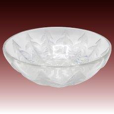 R. Lalique Pissenlit Dandelion Frosted Glass Bowl