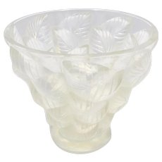 R. Lalique Mossaic Pattern Opalescent Glass Vase