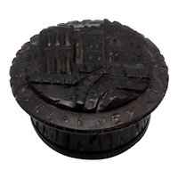 Victorian Era Carved Bog Oak Blarney Castle Box
