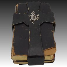 Antique British Hymnal and Book of Prayer in Case