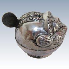 Thai Silver Repoussé Puffer Fish Box Charm