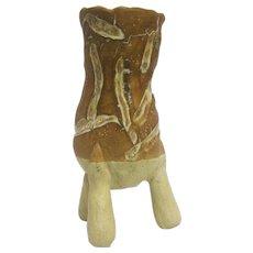 Arnold Zimmerman Mustard Yellow Ceramic Vase