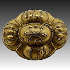 Beautiful Gold Filled Mourning Brooch