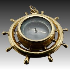 Victorian Brass and Gold Plated Compass
