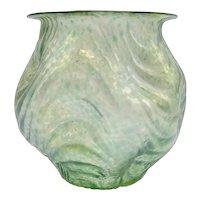 Loetz Oceanic Wellenoptisch Round Wide Mouth Vase, circa 1905