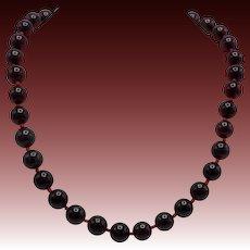 Cherry Amber 1930's Bakelite Bead Necklace