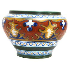 Gouda Art Pottery Small Jardiniere in the Candia Pattern circa 1920s