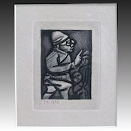 Original Rouault Black & White Print