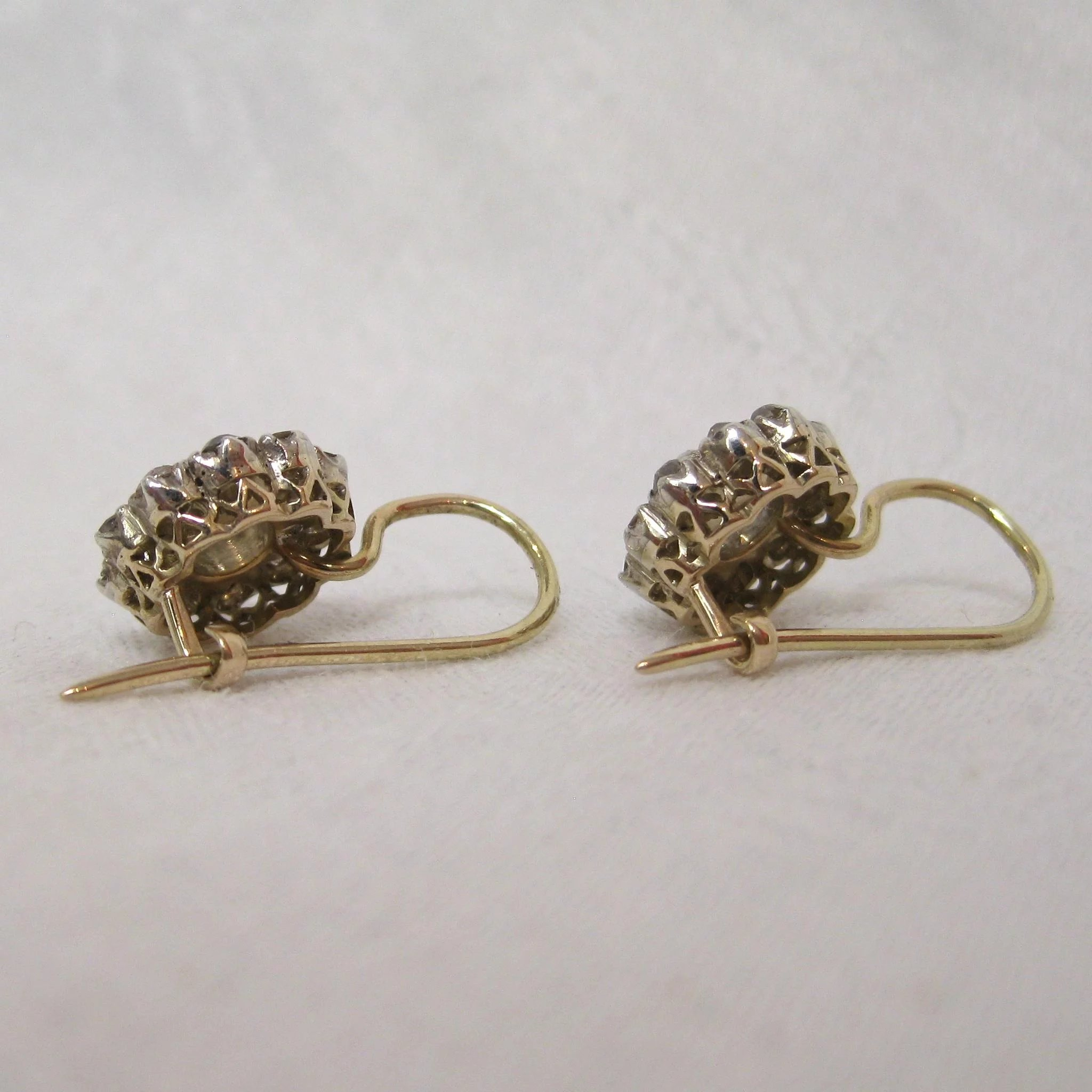 vintage studs rose jewelry extraordinary antique shop earrings diamond georgianrosecutstuds reverie nyc cut img georgian