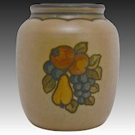 Hand-painted Hjorth Ceramic Fruit Vase