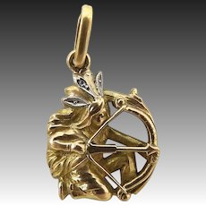 Art Nouveau 18KT Gold Warrior Charm