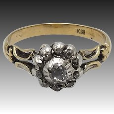Victorian Era 18KT Gold Diamond Ring