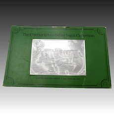 Original Currier & Ives Proof Silver Ingot