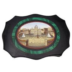 Grand Tour Micro-Mosaic Roman Vatican Paper Weight