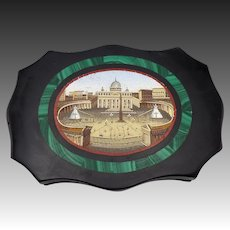 Grand Tour Micro-Mosaic Roman Vatican Paper Weight