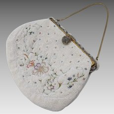 1920's Hand-Made Beaded Flower Purse