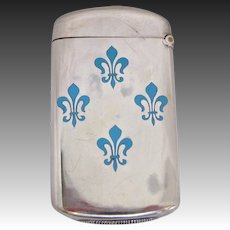 Ludwig, Redlich, & Co. Silver and Enamel Fleur de lis Match Safe